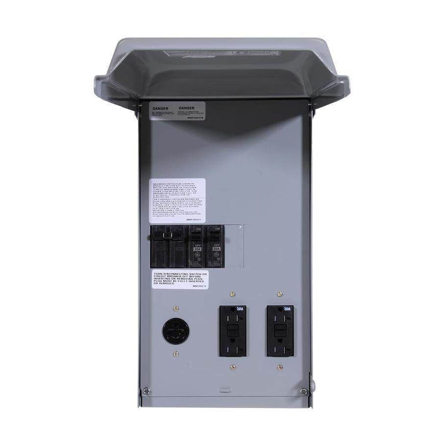 GE 100-Amp 5-Circuit Overhead or Underground Temporary Power Panel