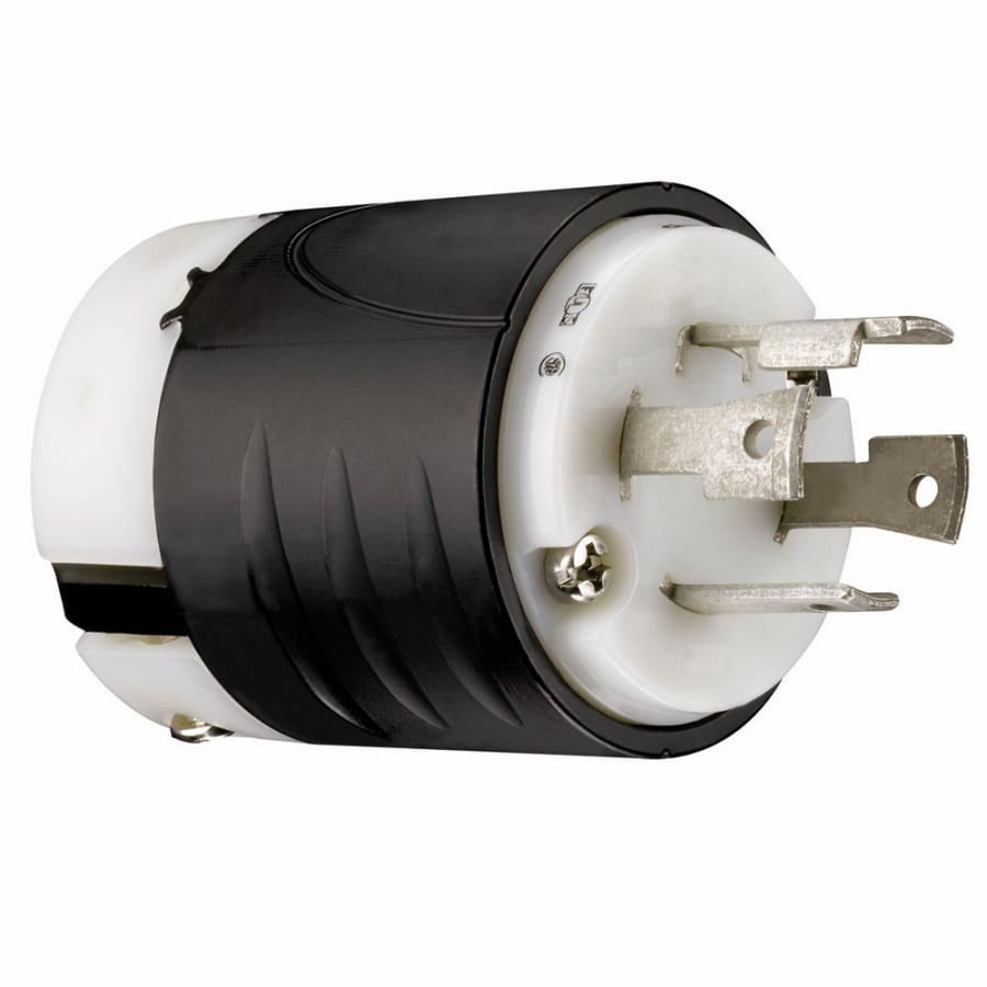 Pass & Seymour/Legrand 30-Amp 250-Volt Black 3-Wire Grounding Plug