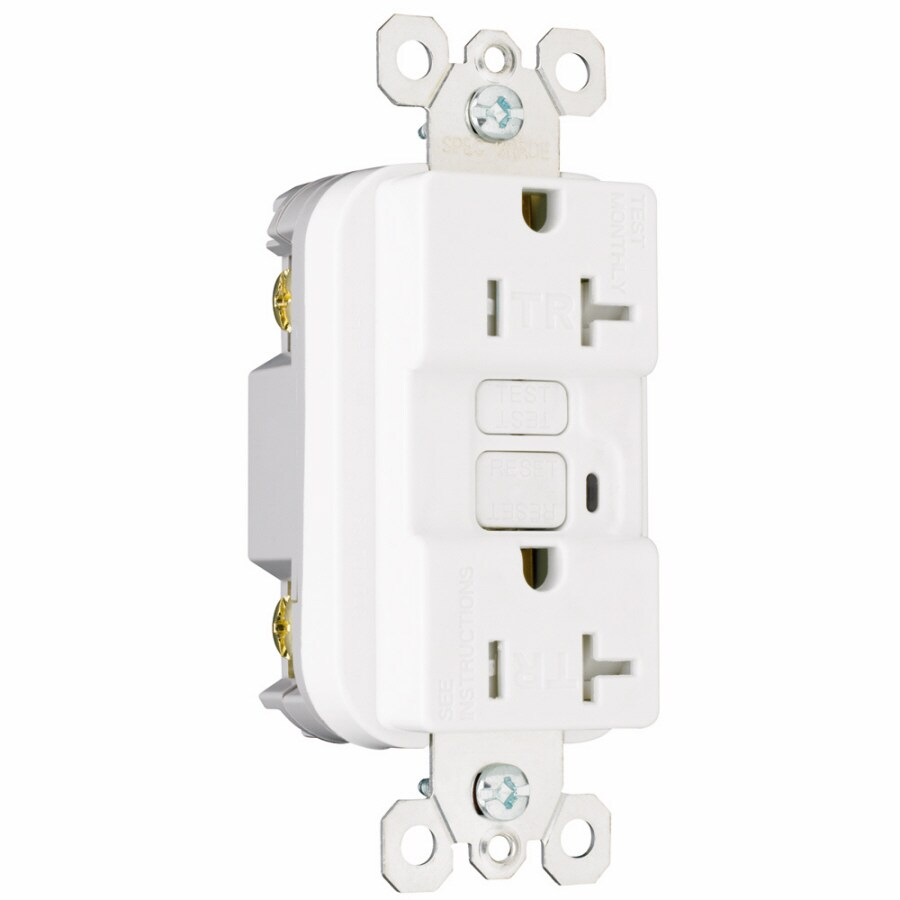 Pass & Seymour/Legrand 3-Pack 20-Amp 125-Volt White GFCI Decorator Tamper Resistant Electrical Outlet