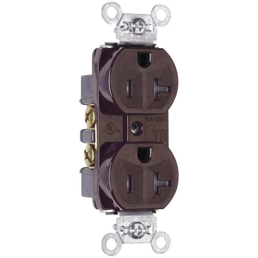 Legrand 20-Amp 125-Volt Brown Indoor Duplex Wall Tamper Resistant Outlet