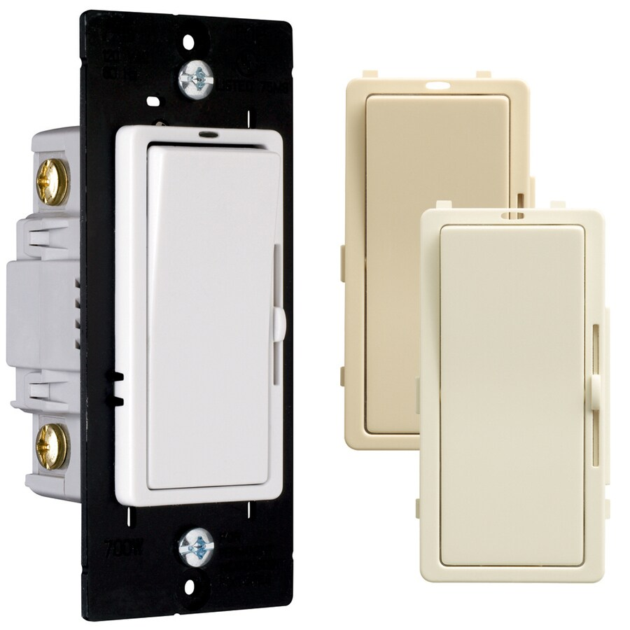 Pass & Seymour/Legrand 6-Pack Ivory, Light Almond, White Light Switches