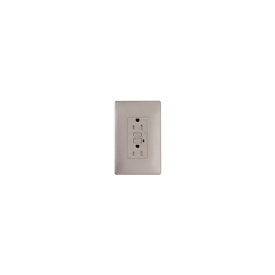 Pass & Seymour/Legrand 15-Amp 125-Volt Nickel Duplex Tamper Resistant Electrical Outlet