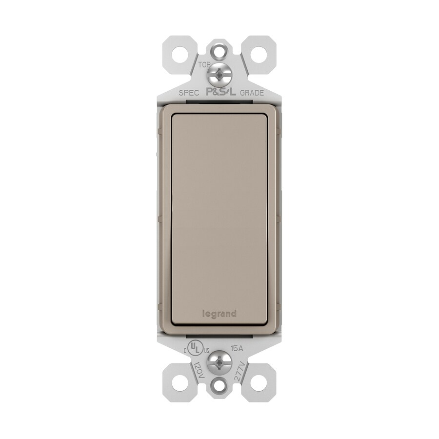 Legrand Radiant 15-Amp Single Pole Nickel Indoor Rocker Light Switch