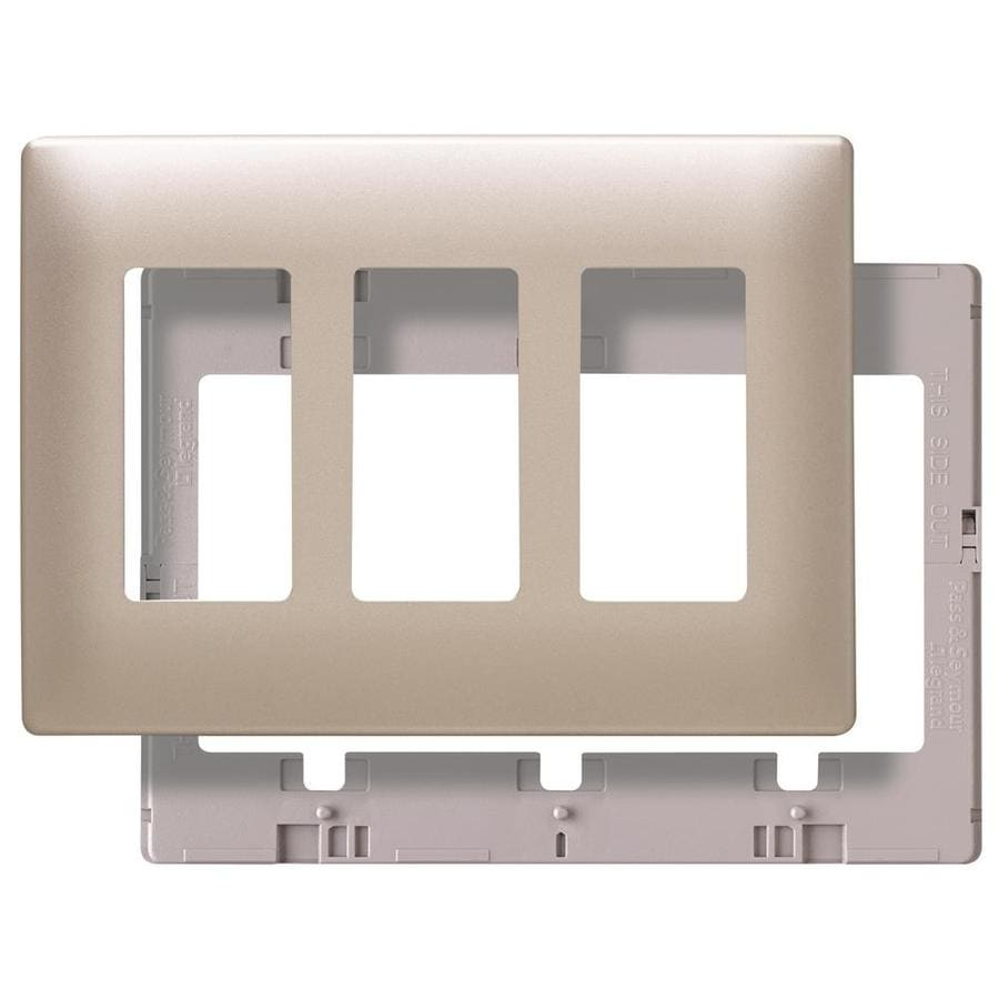 Pass & Seymour/Legrand 3-Gang Nickel Decorator Wall Plate