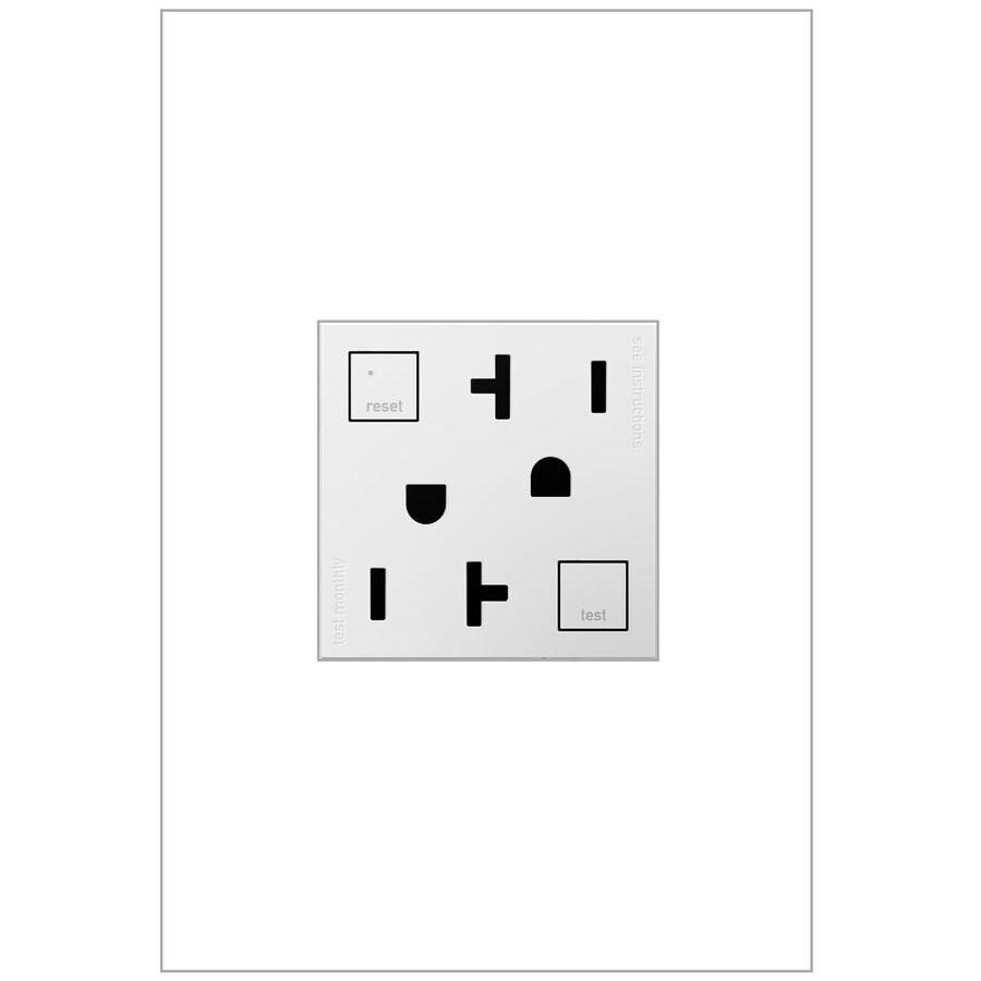 Legrand adorne 15-Amp 125-Volt White GFCI Square Tamper Resistant Electrical Outlet