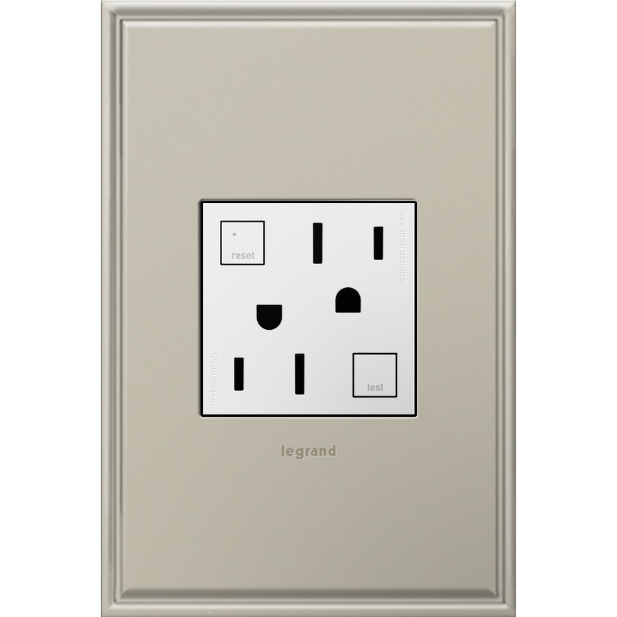 Pass & Seymour/Legrand adorne 20-Amp 125-Volt White GFCI Square Tamper Resistant Electrical Outlet