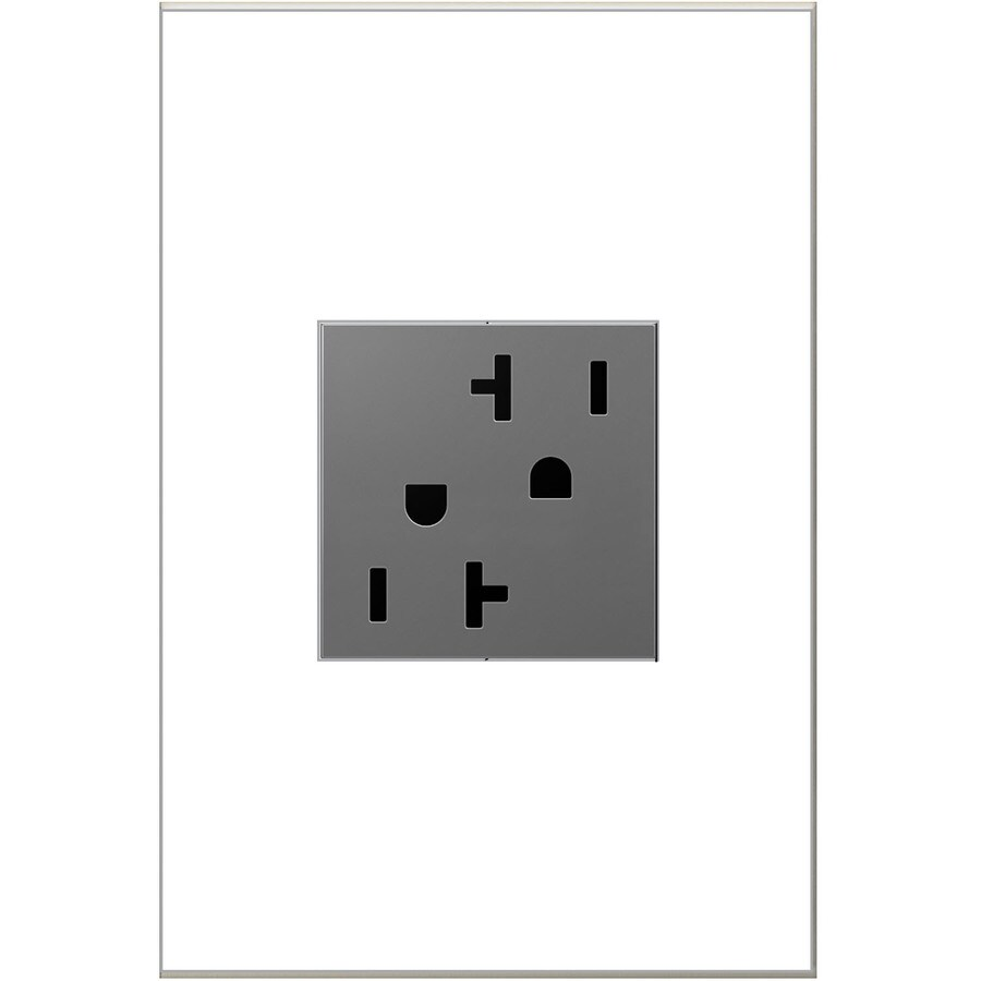 Pass & Seymour/Legrand adorne 20-Amp 125-Volt Magnesium Duplex Tamper Resistant Electrical Outlet