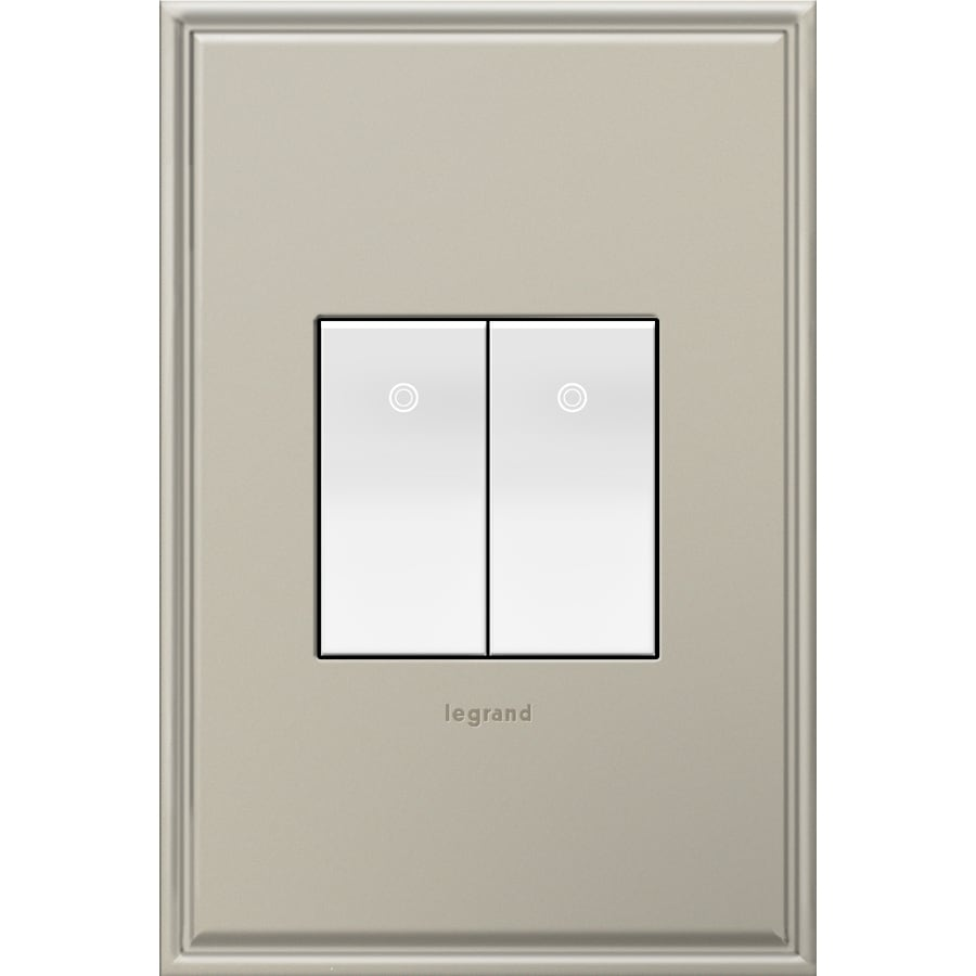 Legrand 15-Amp adorne Paddle White 3-Way Square Light Switch