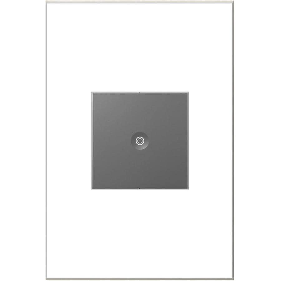 Legrand adorne Push 15-Amp 3-Way Single Pole Magnesium Indoor Push Light Switch