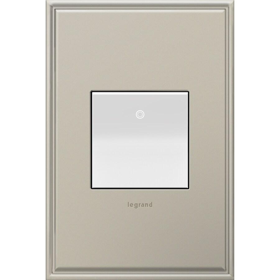 Legrand 15-Amp adorne Paddle White 3-Way Square Light Switch