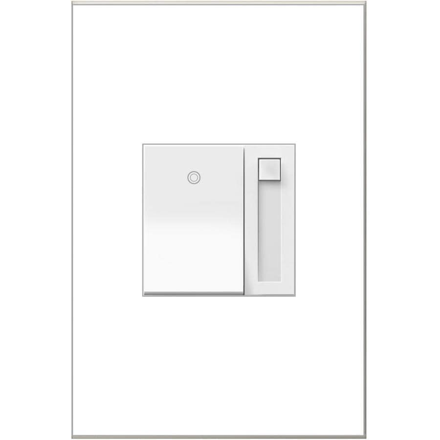 Legrand adorne Paddle 700-Watt 3-Way Single Pole White Indoor Slide Dimmer