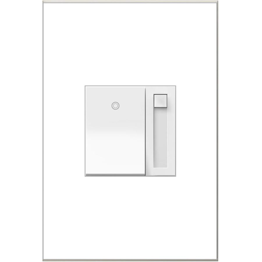 Legrand adorne Paddle 450-Watt 3-Way Single Pole White Indoor Slide Dimmer