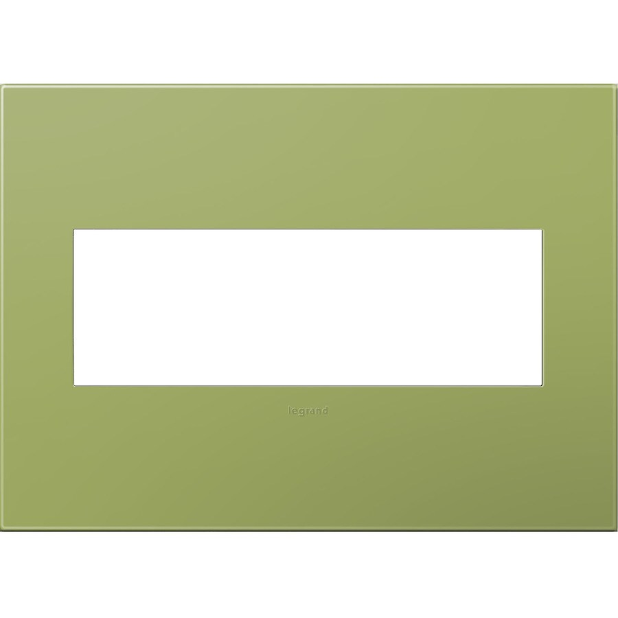 Legrand adorne 3-Gang Lichen Green Triple Square Wall Plate