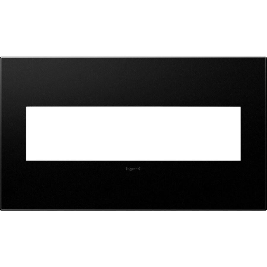 Legrand adorne 4-Gang Graphite Quad Square Wall Plate
