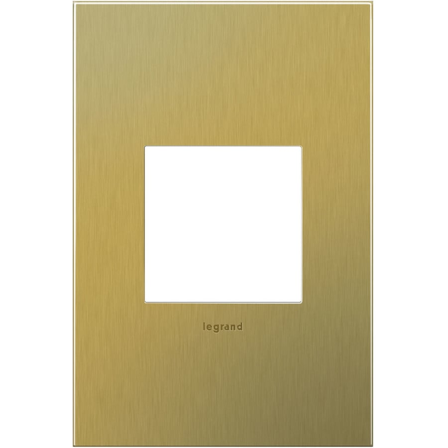 Legrand adorne 1-Gang Brushed Brass Single Square Wall Plate
