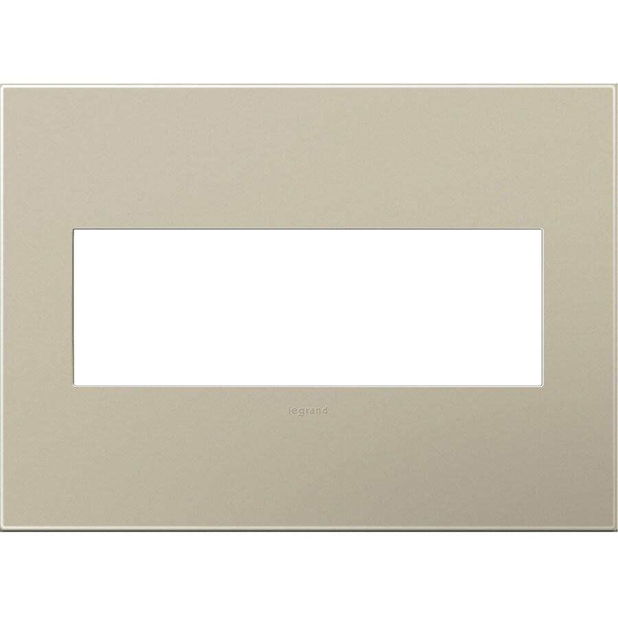 Legrand adorne 3-Gang Titanium Triple Square Wall Plate