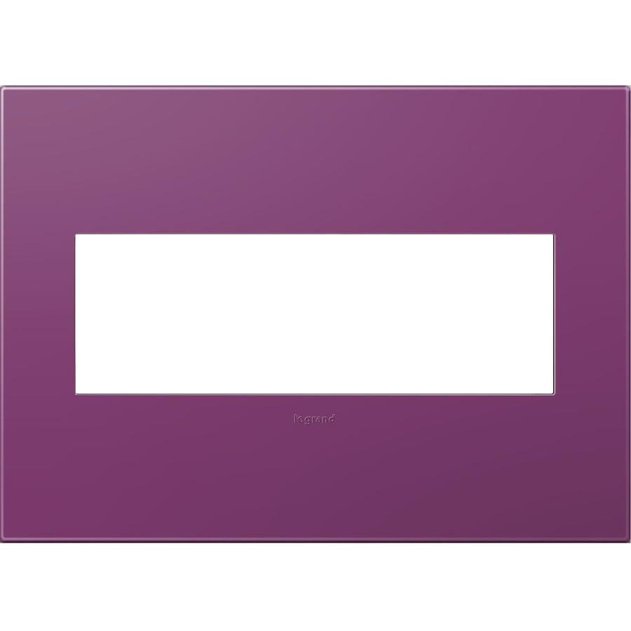 Legrand adorne 3-Gang Plum Triple Square Wall Plate