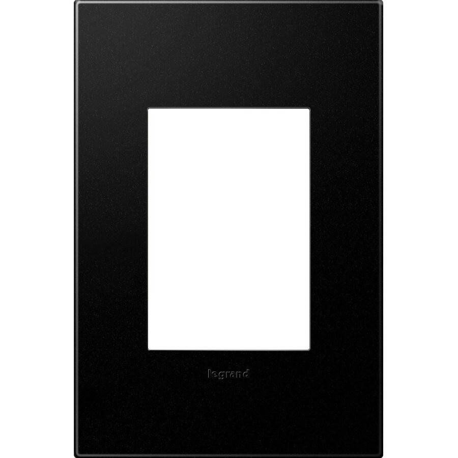 Legrand adorne 1-Gang Graphite Single Square Wall Plate