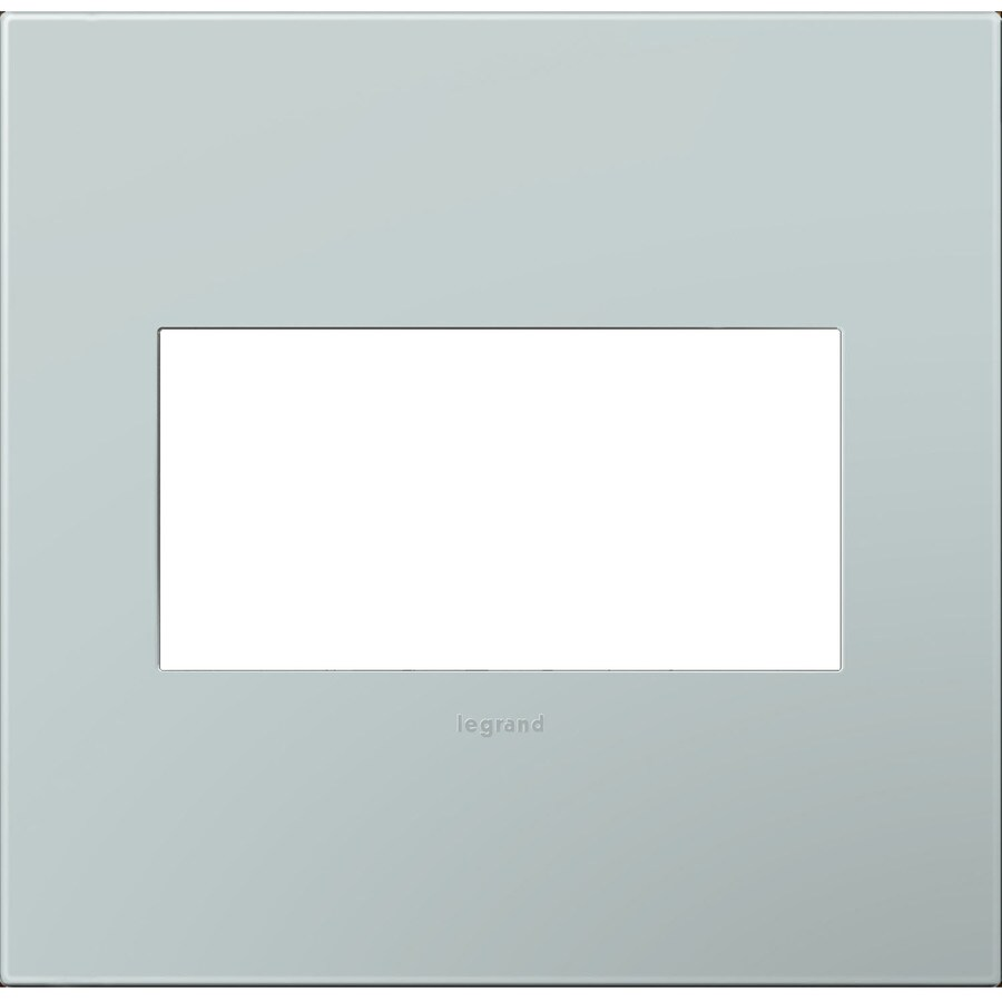 Legrand adorne 2-Gang Pale Blue Double Square Wall Plate