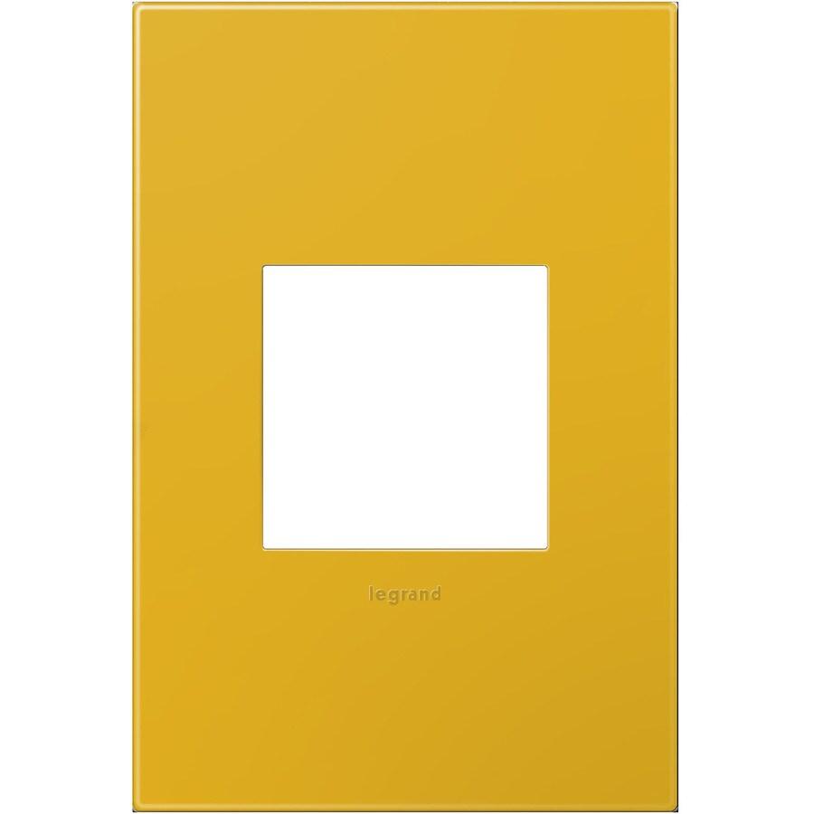 Legrand adorne 1-Gang Honey Single Square Wall Plate