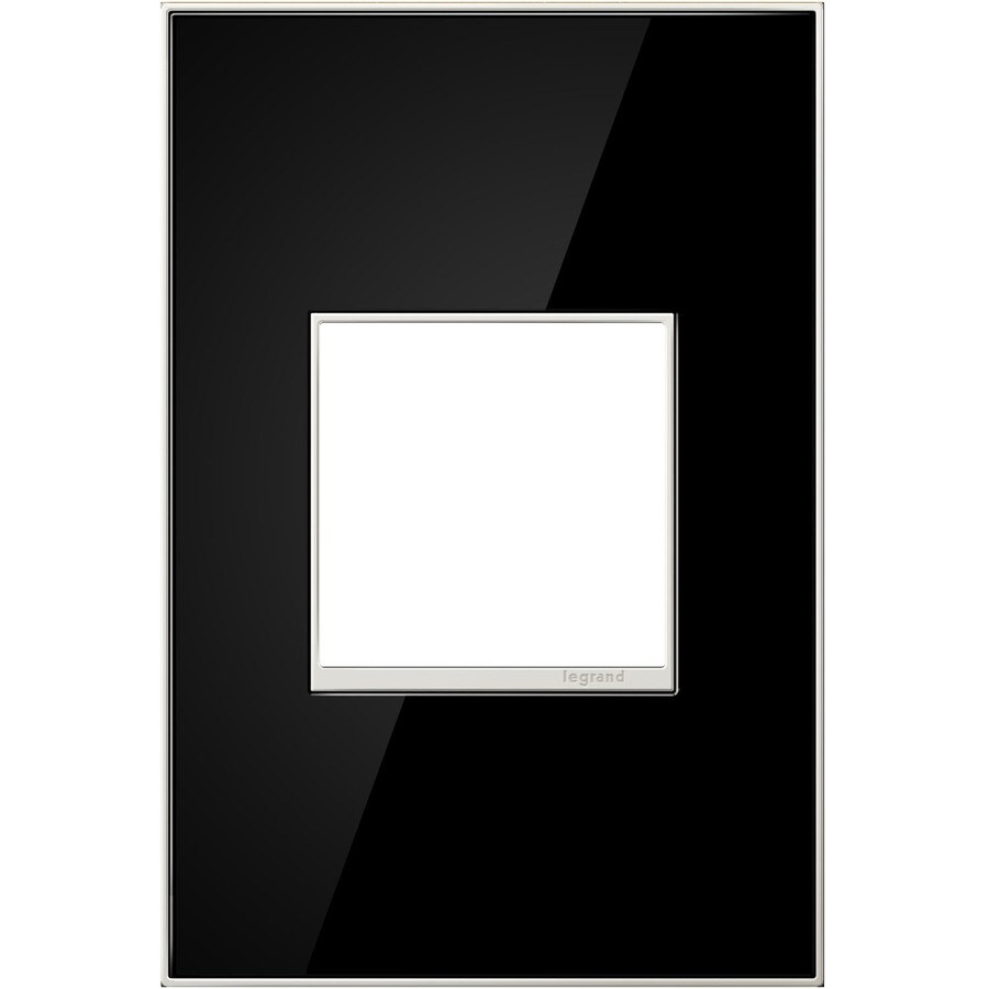 Legrand adorne 1-Gang Mirror Black Single Square Wall Plate