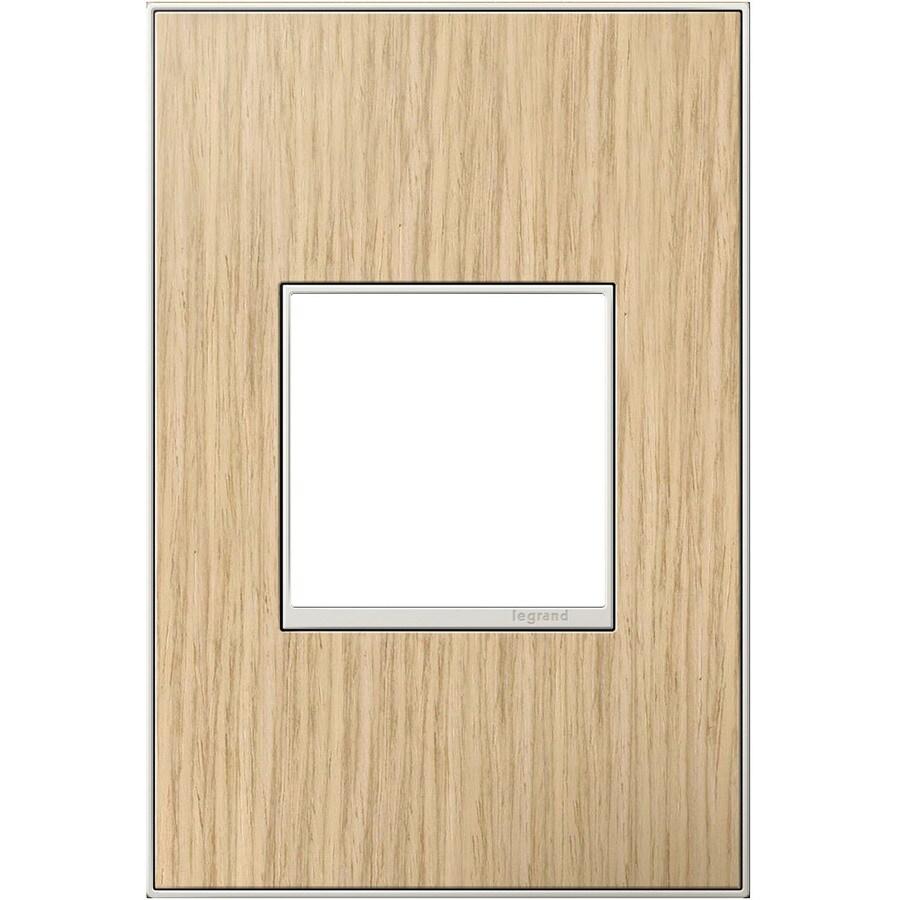 Legrand adorne 1-Gang French Oak Single Square Wall Plate