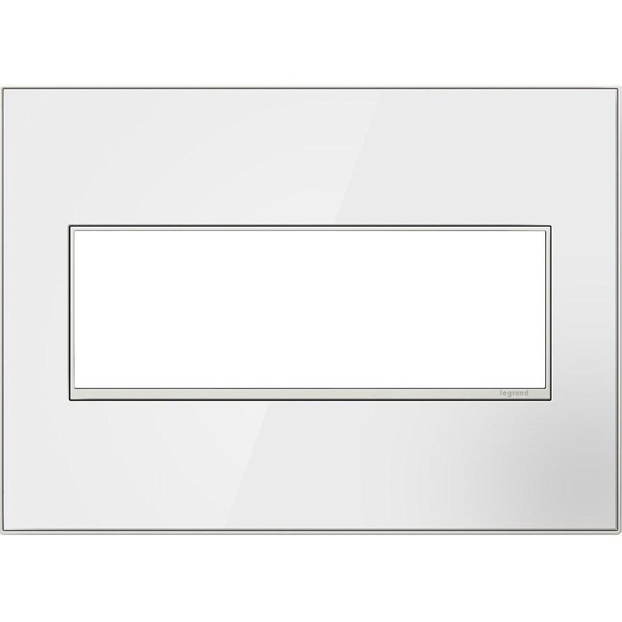 Legrand adorne 3-Gang Mirror White Triple Square Wall Plate