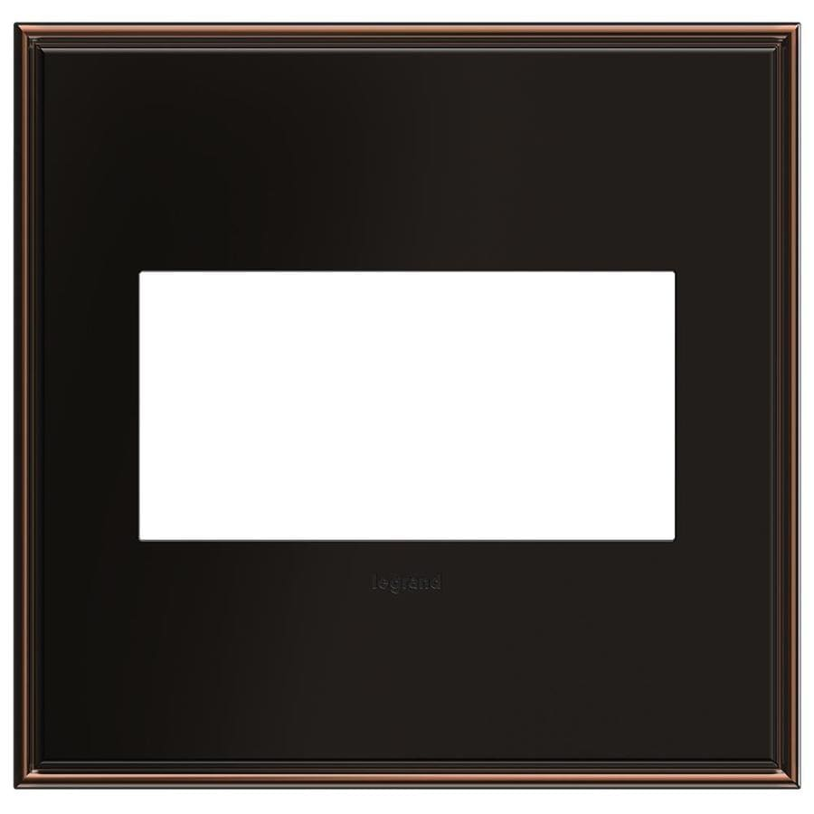 Legrand adorne 2-Gang Oil-Rubbed Bronze Double Square Wall Plate