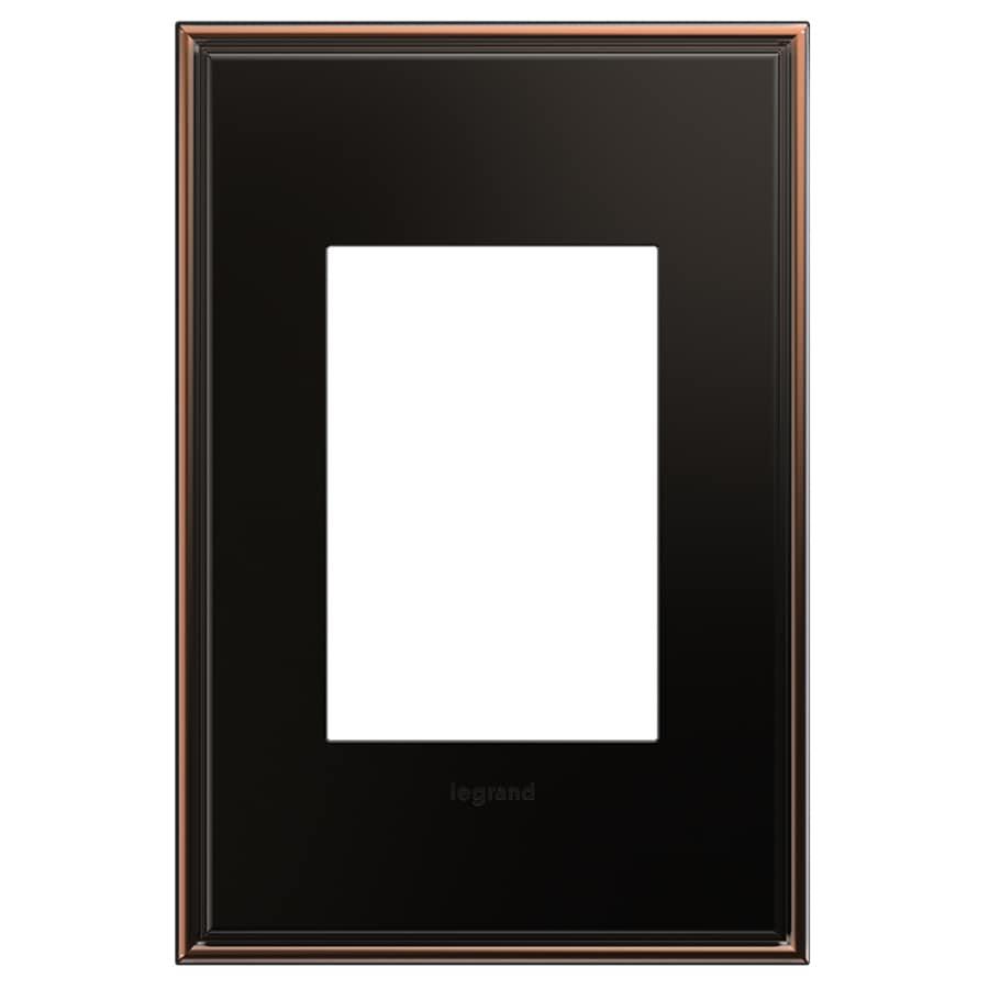 Legrand adorne 1-Gang Oil-Rubbed Bronze Single Square Wall Plate