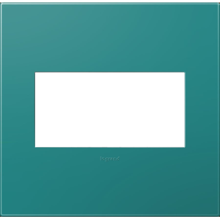 Legrand adorne 2-Gang Turquoise Blue Double Square Wall Plate