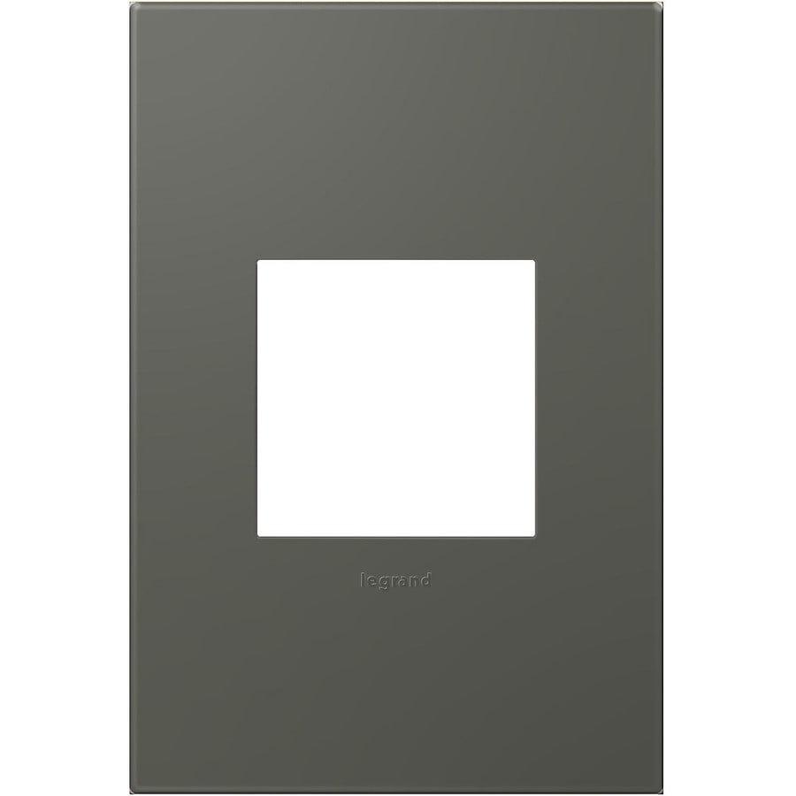 Legrand adorne 1-Gang Soft Touch Moss Grey Single Square Wall Plate