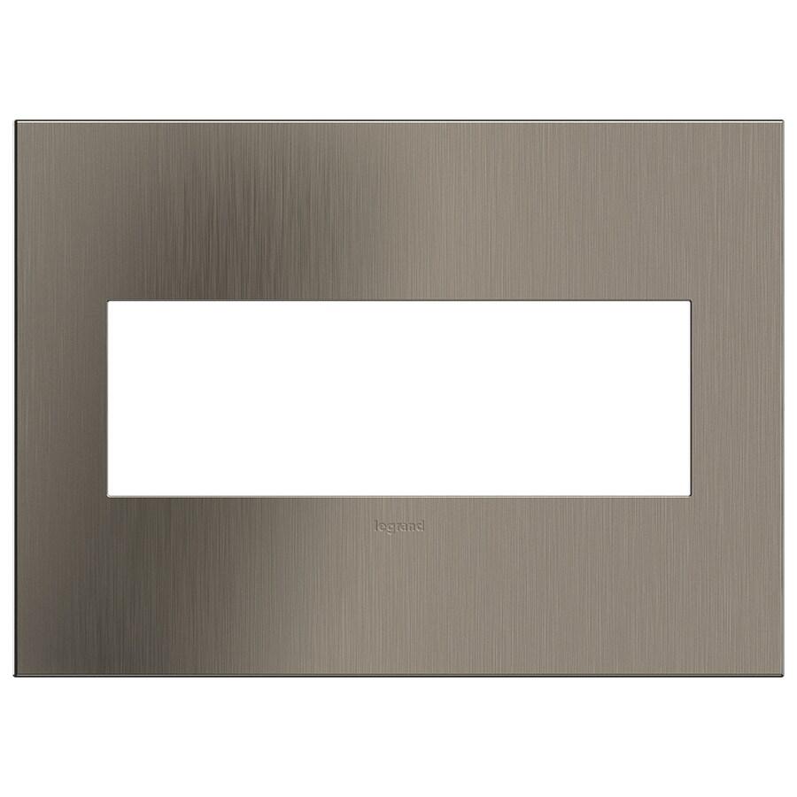 Legrand adorne 3-Gang Satin Nickel Triple Square Wall Plate