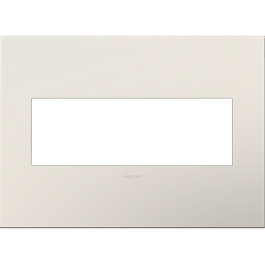 Legrand adorne 3-Gang Light Almond Triple Square Wall Plate