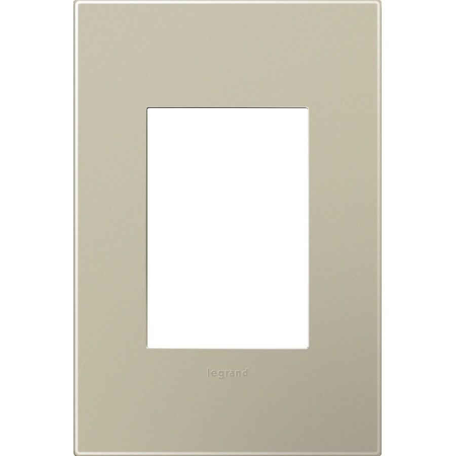 Legrand adorne 1-Gang Titanium Single Square Wall Plate