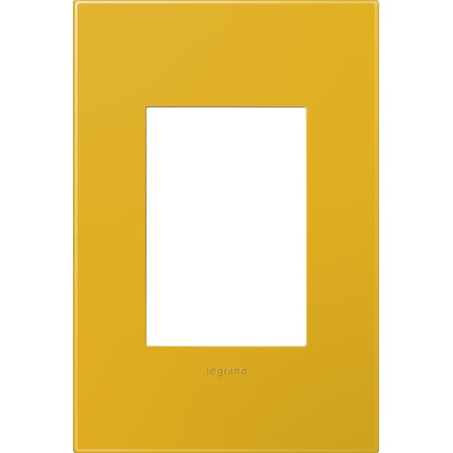 Legrand adorne 1-Gang Honey Single Square Wall Plate