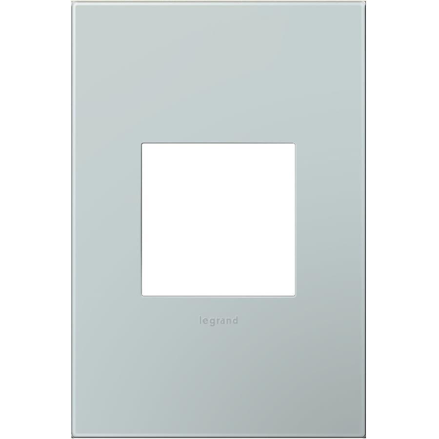 Legrand adorne 1-Gang Pale Blue Single Square Wall Plate