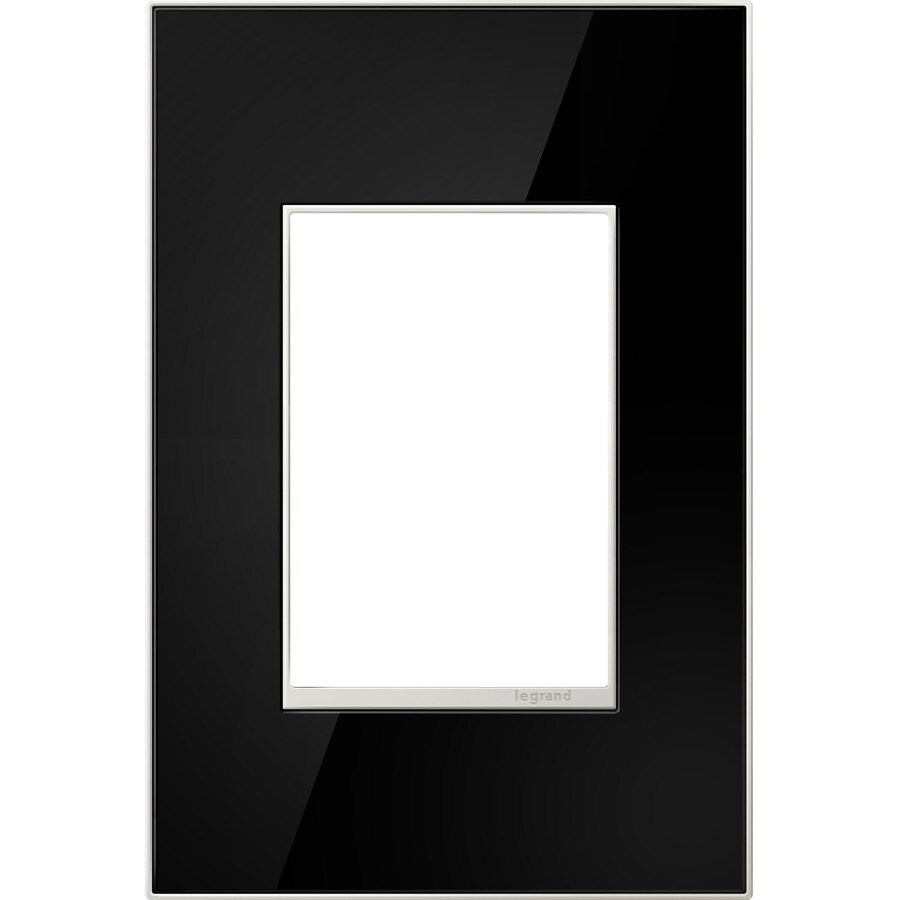 Legrand adorne 1-Gang Mirror Black Single Square Wall Plate