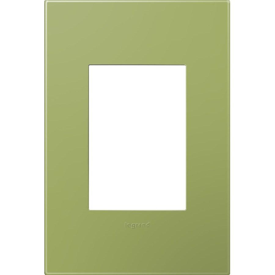 Legrand adorne 1-Gang Lichen Green Single Square Wall Plate