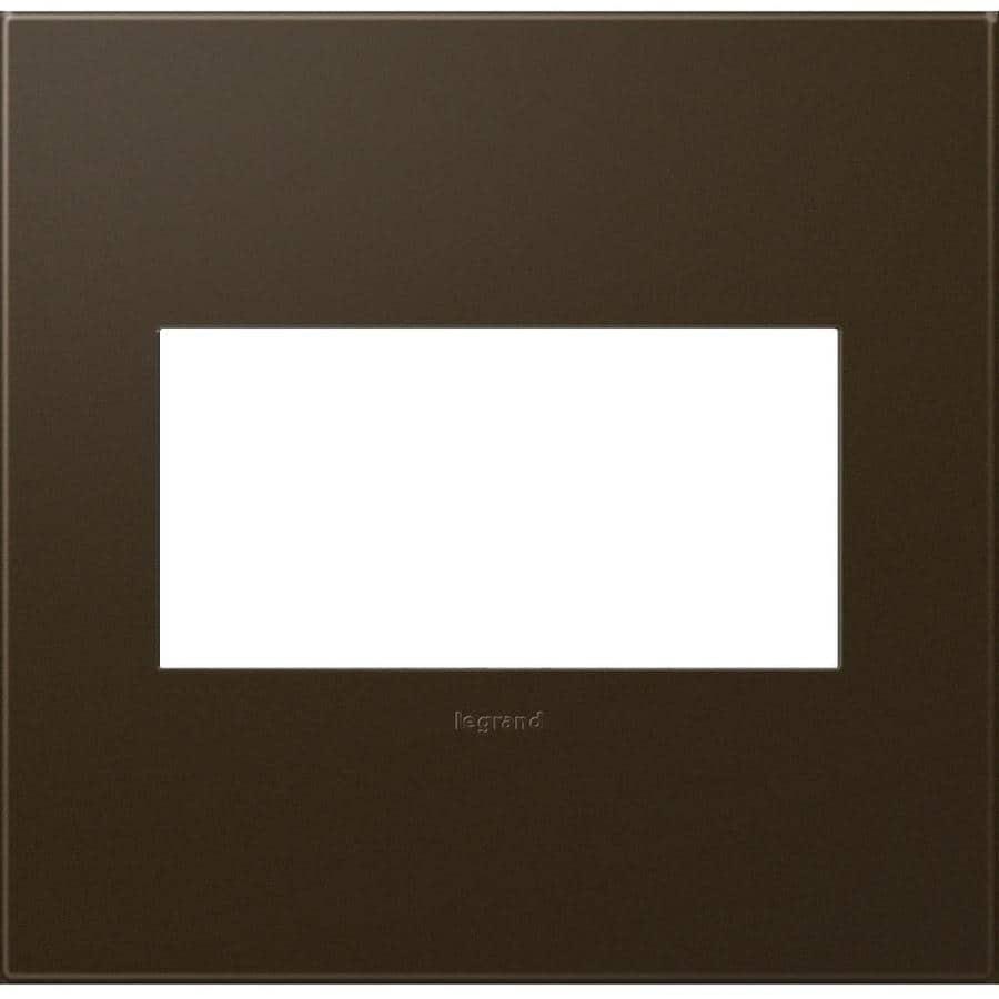 Legrand Adorne 2-Gang Bronze Square Plastic Wall Plate