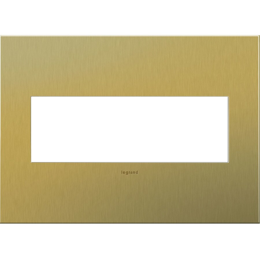 Legrand adorne 3-Gang Brushed Brass Triple Square Wall Plate