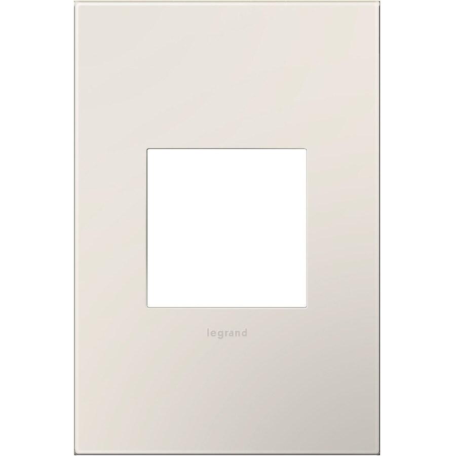 Legrand adorne 1-Gang Satin Light Almond Single Square Wall Plate