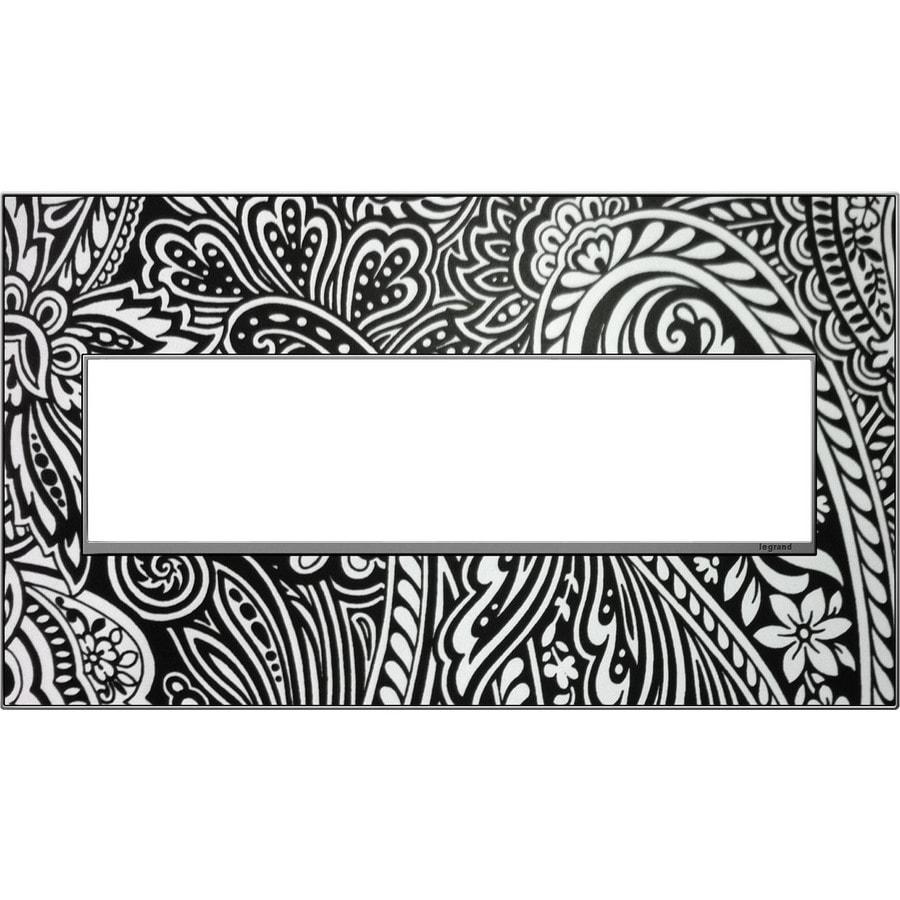 Legrand adorne 4-Gang Magnesium Customizable Quad Square Wall Plate