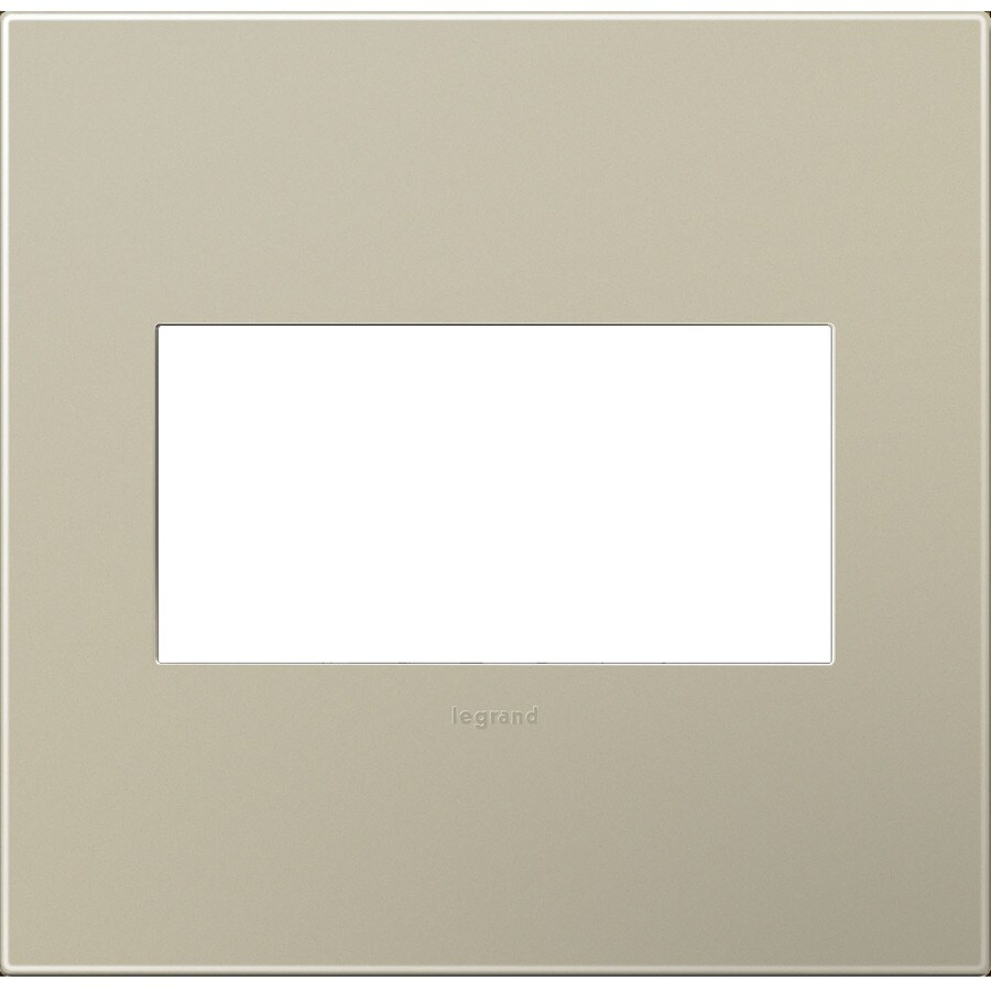 Legrand adorne 2-Gang Titanium Double Square Wall Plate