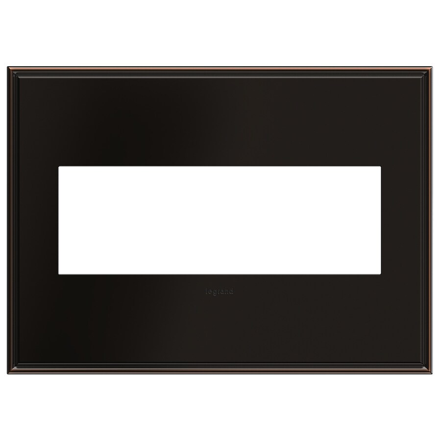 Legrand adorne 3-Gang Oil-Rubbed Bronze Triple Square Wall Plate