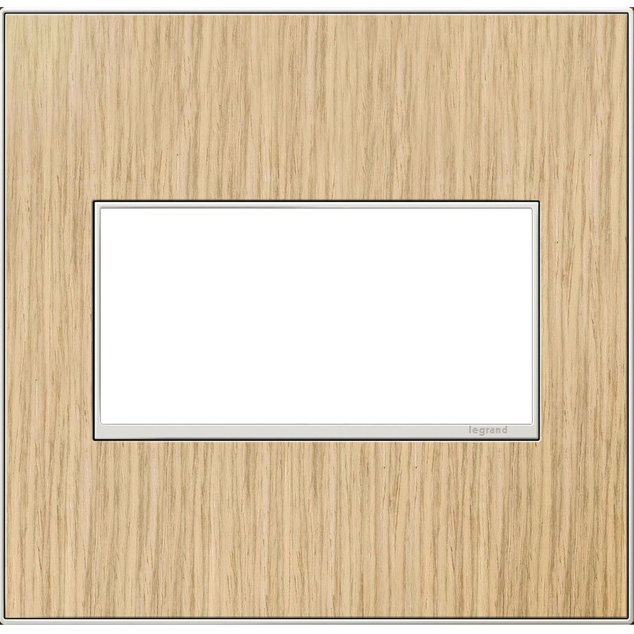 Legrand adorne 2-Gang French Oak Double Square Wall Plate