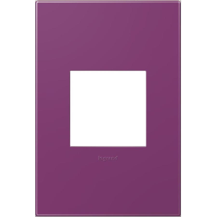 Legrand adorne 1-Gang Plum Single Square Wall Plate