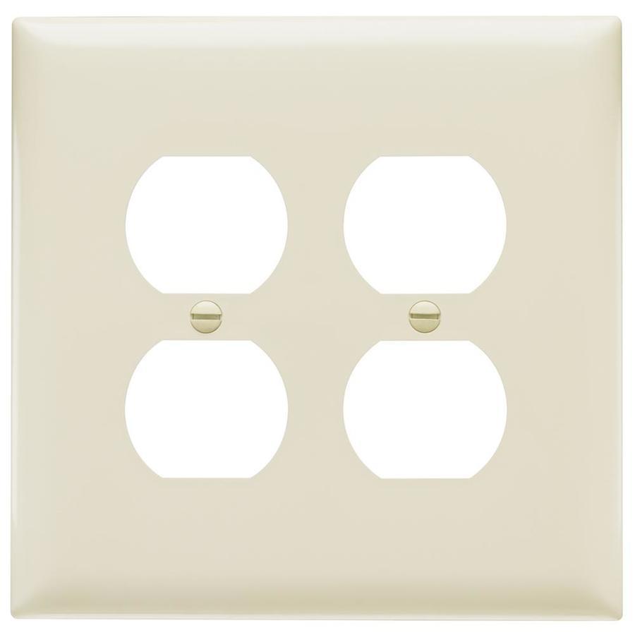 Pass & Seymour/Legrand Trademaster 2-Gang Light Almond Double Duplex Wall Plate