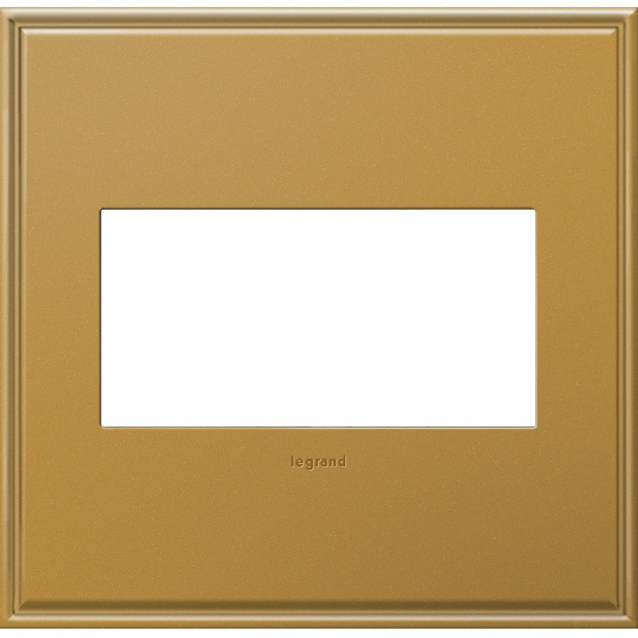 Legrand adorne 2-Gang Antique Bronze Double Square Wall Plate