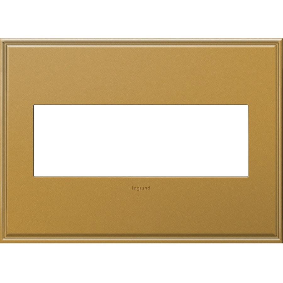 Legrand adorne 3-Gang Antique Bronze Triple Square Wall Plate