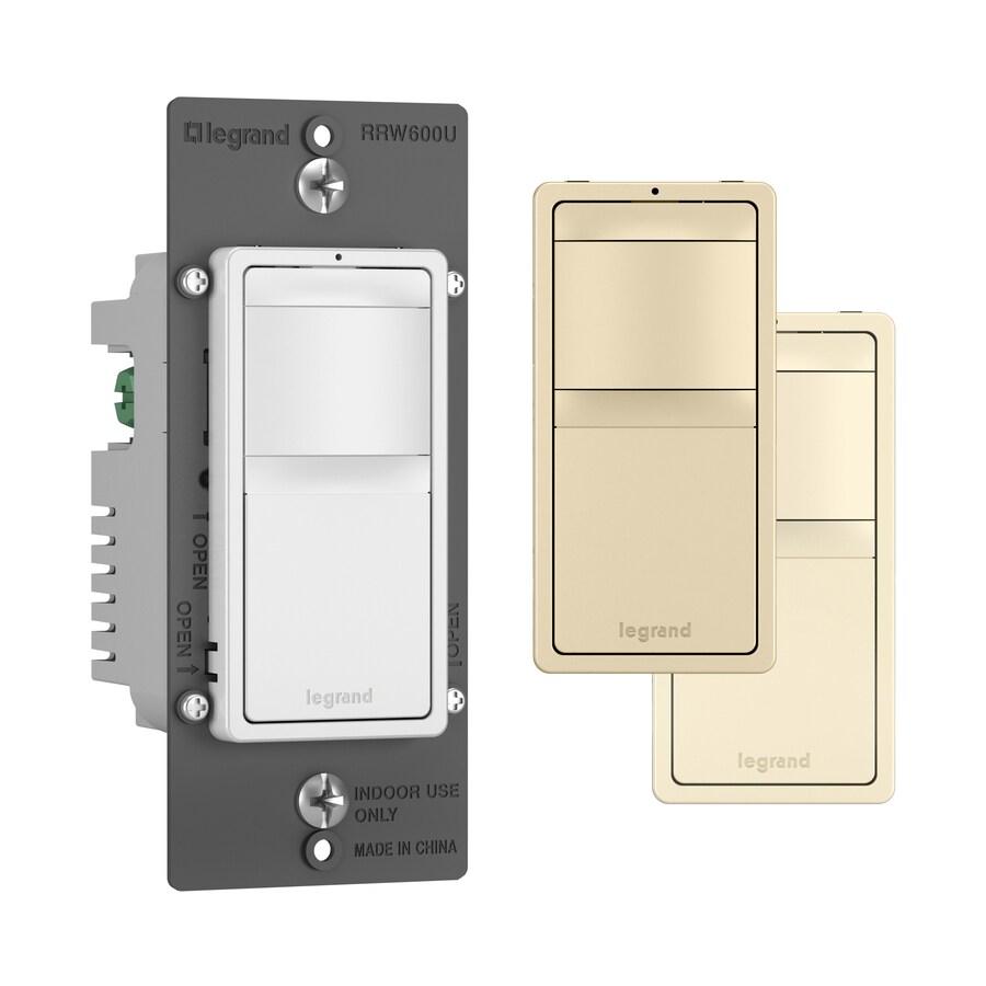 Pass & Seymour/Legrand Single Pole Ivory, Light Almond, White Motion Light Switch